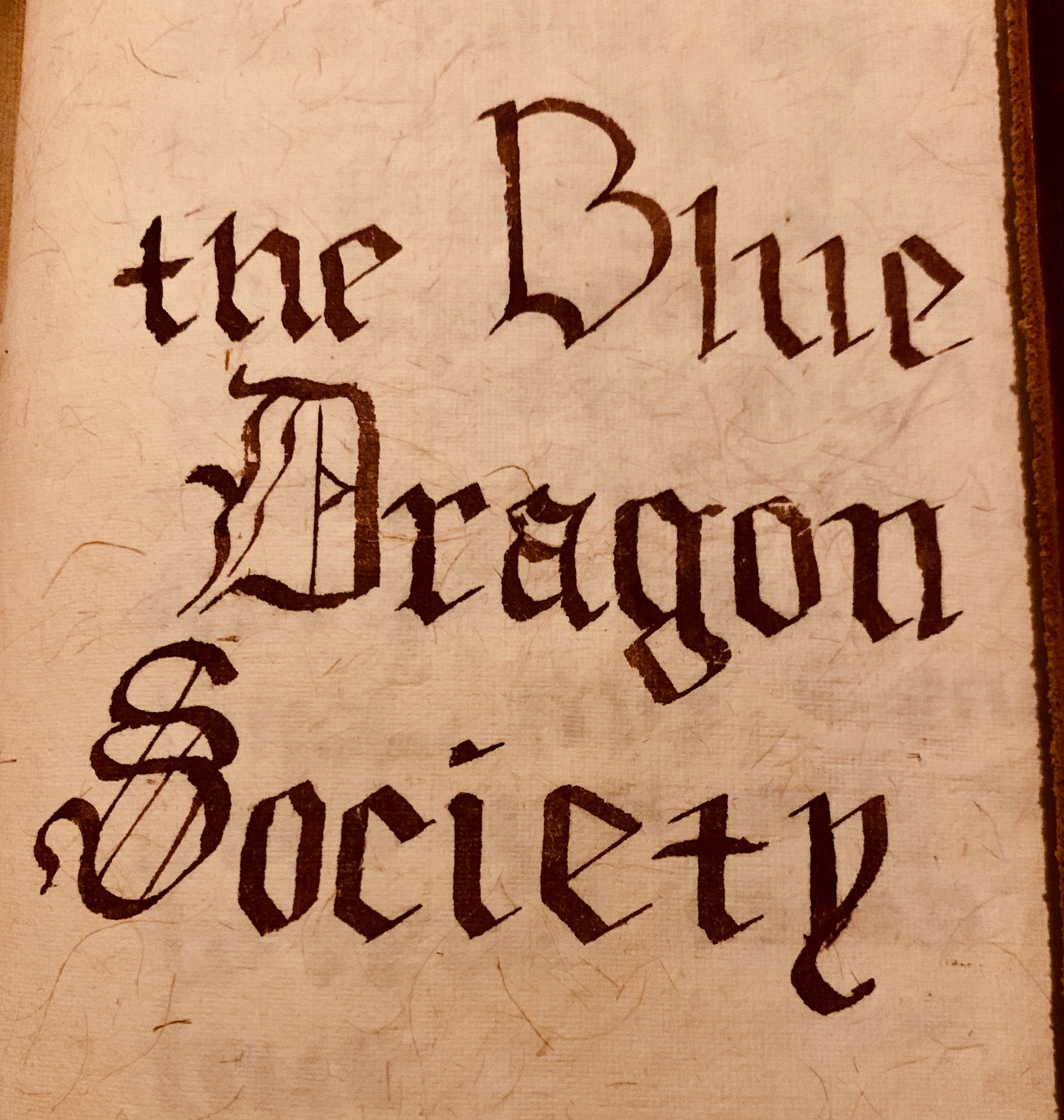 Blue Dragon Society Cover page